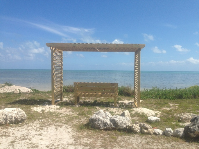 The state park at Long Key has a small beach area for day visitors with picnic amenities and showers.  Who wouldn't want to just sit here and look at the ocean?