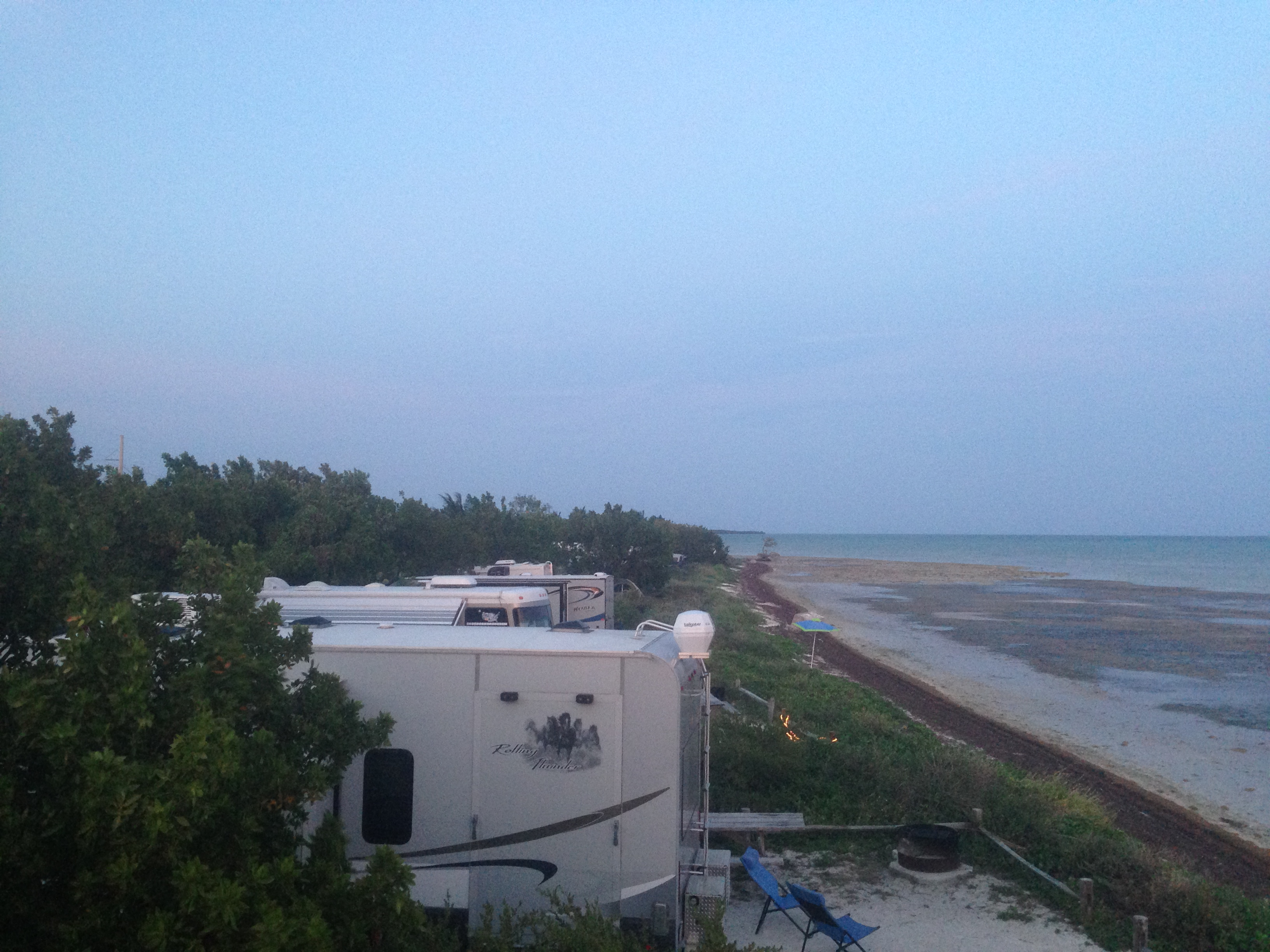 The best beach camping in the florida keys how do i travel a view from the top of our rv of the campsites at long key state park sciox Choice Image