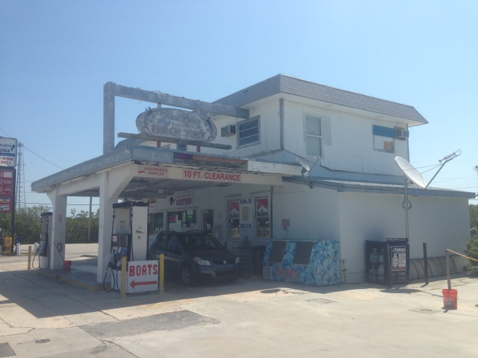 This little convenience store in an old gas station still sells gas and just about anything you would need on Long Key, Florida.   In case they don't the only other shop on the island is just about a block away.