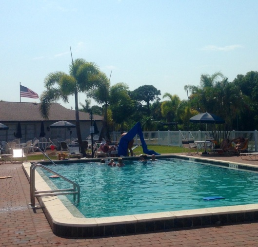 The pool at the KOA Pine Island was excellent and located near a club house, recreation center, store, showers and more.  It was spotless clean.