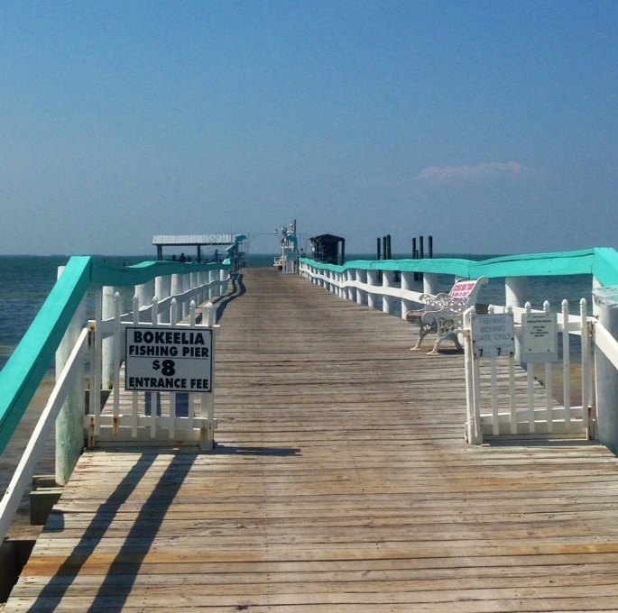 The municipal pier in Bokeelia.