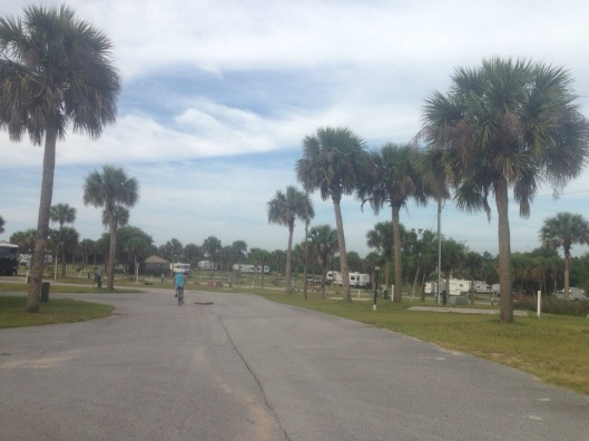 The campground is quite large with an upper section and a lower section at the KOA Fort Summit near Orlando.