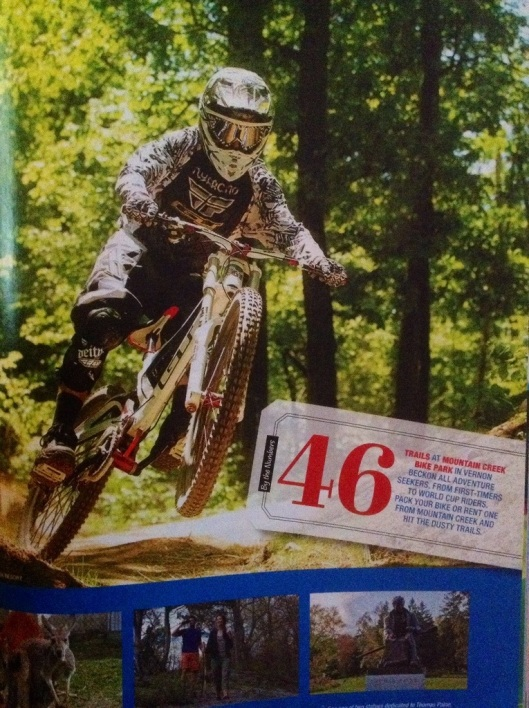 The Mountain Creek Bike Park in Vernon, NJ is well positioned in the New Jersey guide and rightfully so.