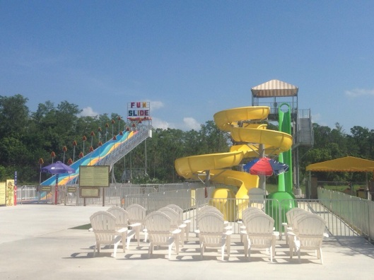 The waterpark at Lion Country Safari is great and there are even slides for the kids in addition to a splash park (not pictured here).