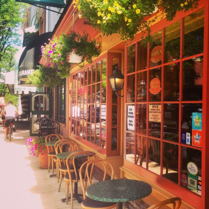 Kennett Square's streets have some charming scenes with sidewalk cafes and boutiques.