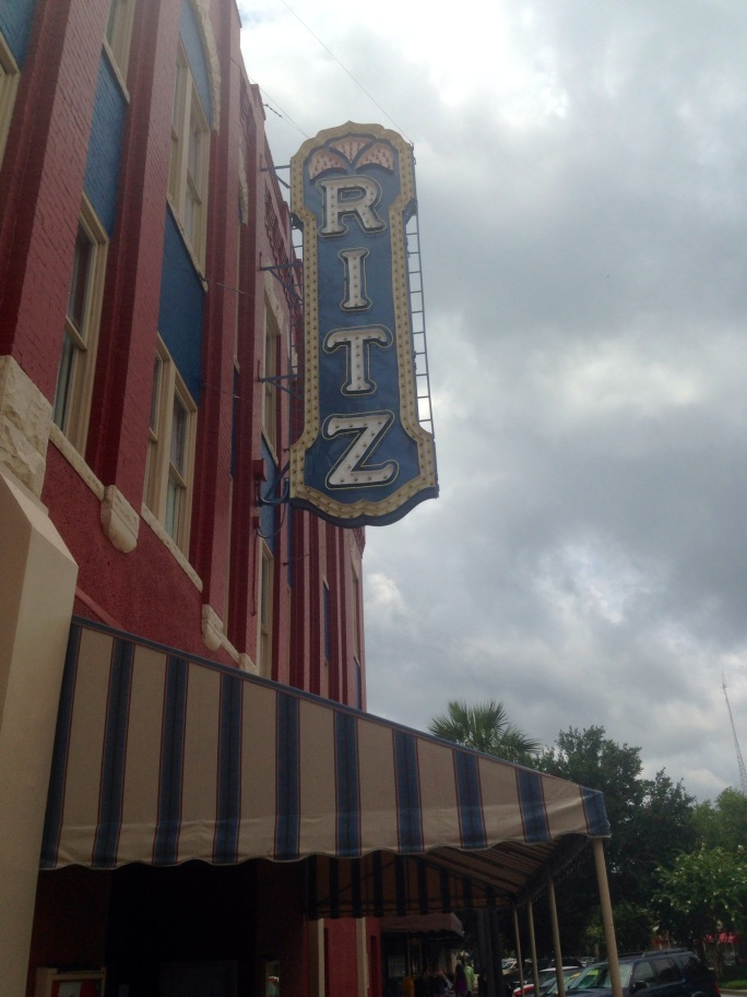 The gorgeous sign of The Ritz in downtown historic Brunswick, Georgia.
