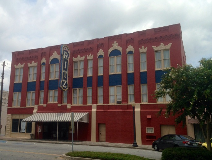The beautiful Ritz theater in historic Brunswick, Georgia.