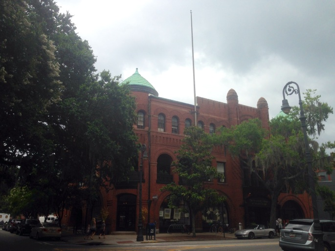Plenty to stop and visit along the bike trail in historic Savannah such as the SCAD store.