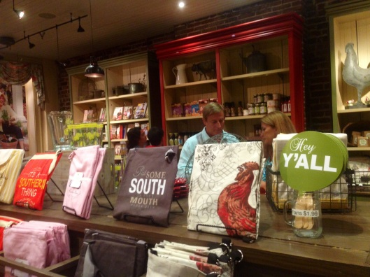 The Lady and Sons retail store has loads of Paula Deen merchandise and we couldn't resist and bought a few things.