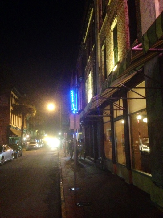There are lots of ghost tours of Savannah and it does photograph quite eerily at night.