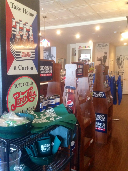 The Birthplace of Pepsi in New Bern, NC, has a wide variety of merchandise mixed with some fascinating archival pieces or memorabilia.