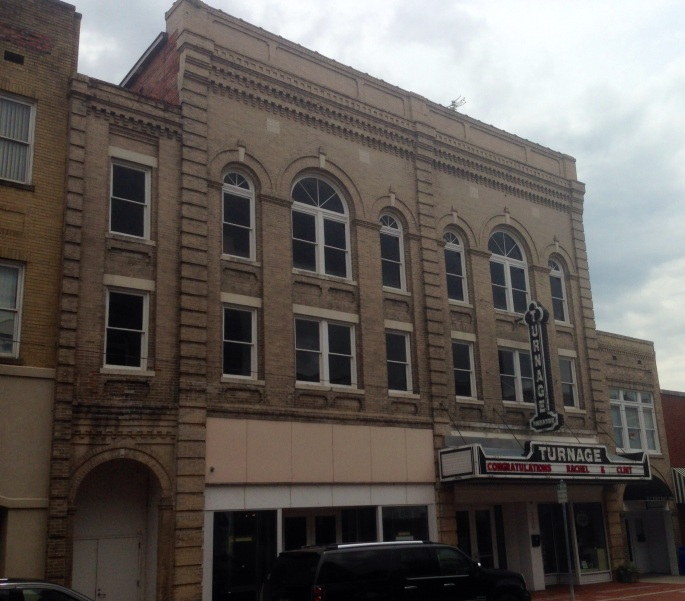 The historic Turnage Theater is in downtown Washington NC.