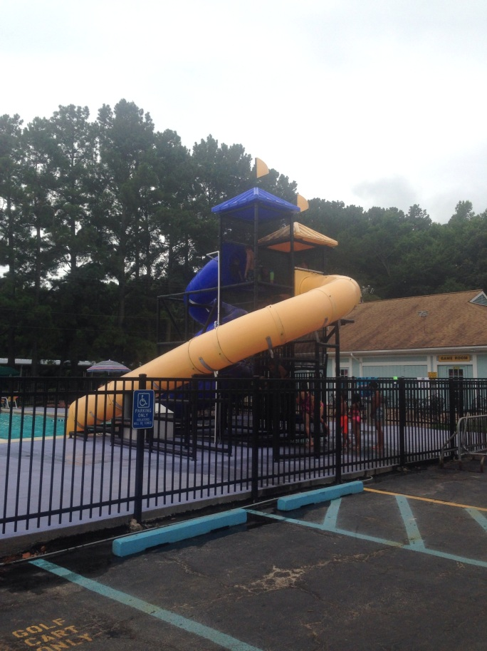 The pool was great at the KOA Virginia Beach and included a fun slide for the kids.