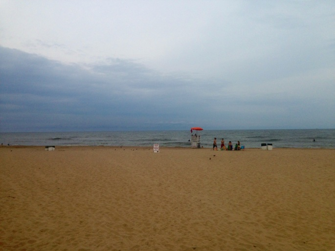 The beach is wide a terrific along Virginia Beach, Virginia.
