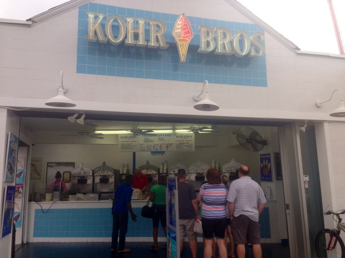 The frozen custard is fabulous at Kohr Brothers and is definitely on the must-do list when in Virginia Beach.