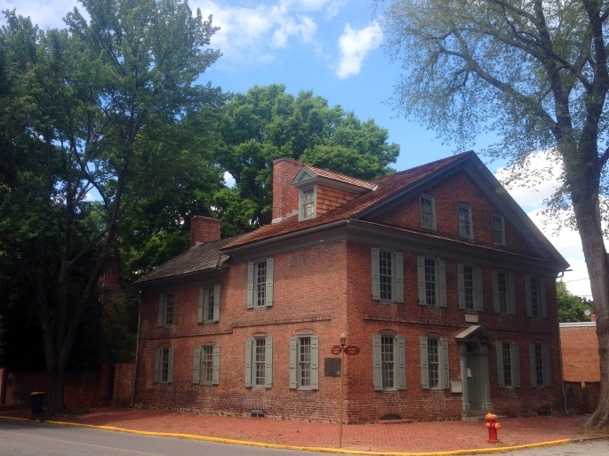 The historic Amstel house in New Castle, Delaware.