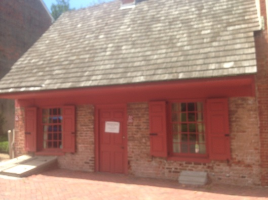 The old Dutch house in historic New Castle, Delaware.