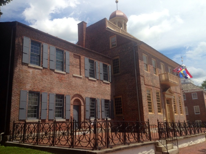 The historic court house in New Castle, Delaware.