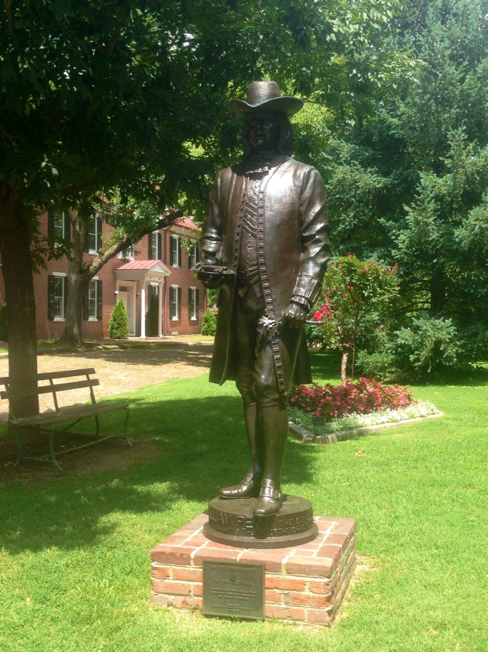 This statue of William Penn stands at the Common (or Green as it's called here) in New Castle, Delaware near where he landed in the Colonies.