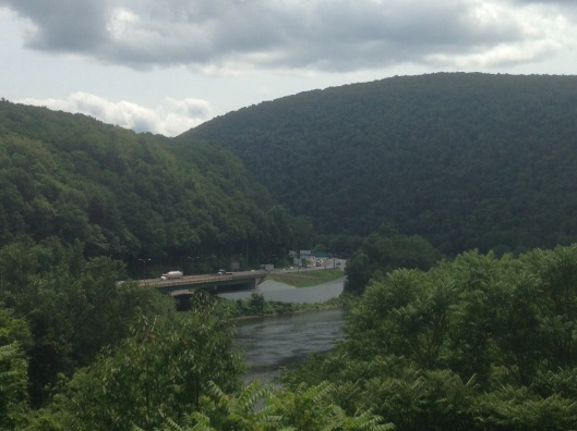 The views of the region aboard the trolley are incredible in the Delaware Water Gap.