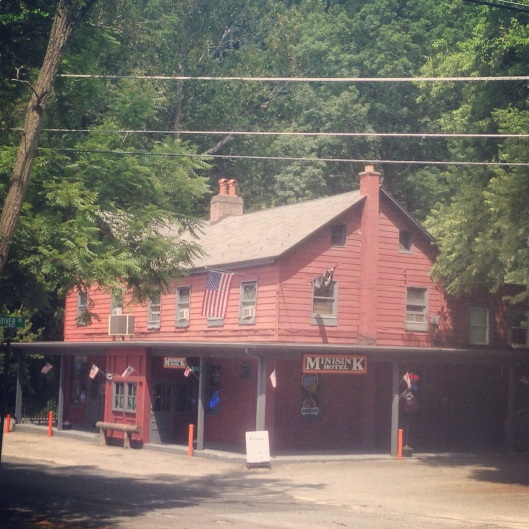 The Minisink Hotel is one of the many places you pass while on the Delaware Water Gap trolley tour.