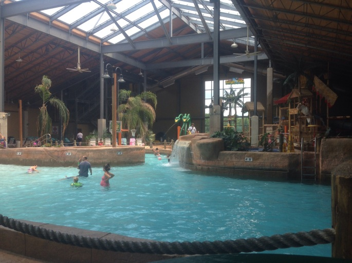 One of the pools at the H20ooohh! indoor water park at Split Rock Resort at Lake Harmony in the Poconos.