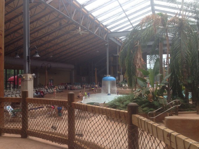 The main vista as you enter the indoor water park at Split Rock in the Poconos.
