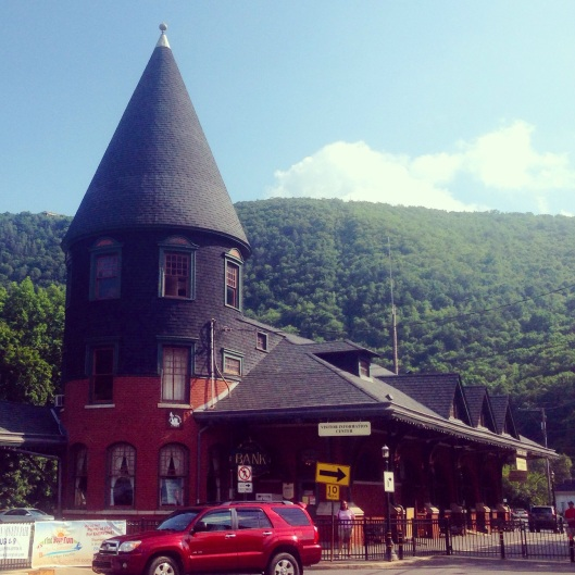 The railway station at Jim Thorpe, Pennsylvania is a wonderful structure.