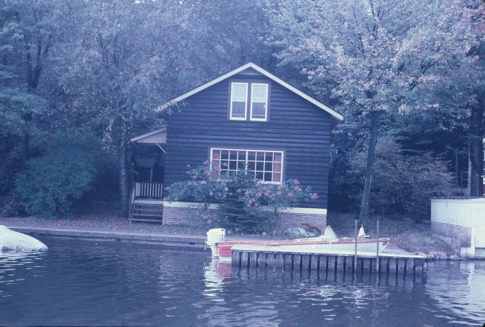 This historical view of one of the cottages at Lake Harmony at Split Rock was taken in about 1959 and my dad used to spend a lot of time there.  I'd love for someone to identify where it is and what perhaps it looks like today, if it is still there.