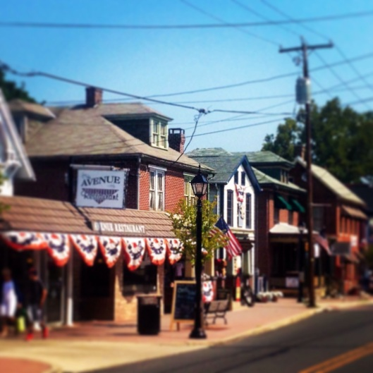There's lots to see in Gettysburg including this area across from the Battlefield Bus Tours.