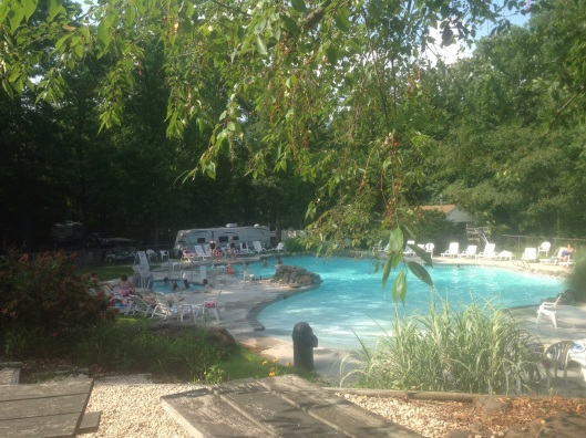 One of the pools at Drummer Boy Camping Resort Gettysburg.