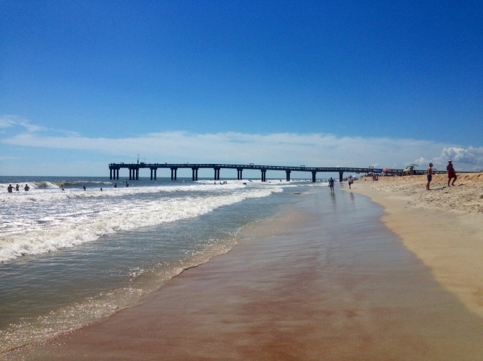 The Pier at St. Augustine Beach is less than ten minutes by bicycle from the campground.