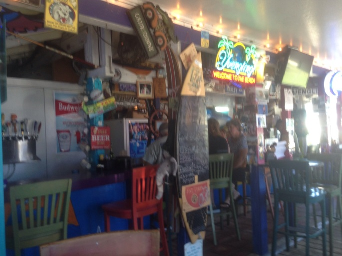 Little Margie's FA Cafe was the perfect place to relax and eat right across from the beach in St. Augustine Beach.