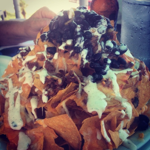 The nachos at Salt Life in St. Augstine Beach were out of this world and paired perfectly with cold beer.