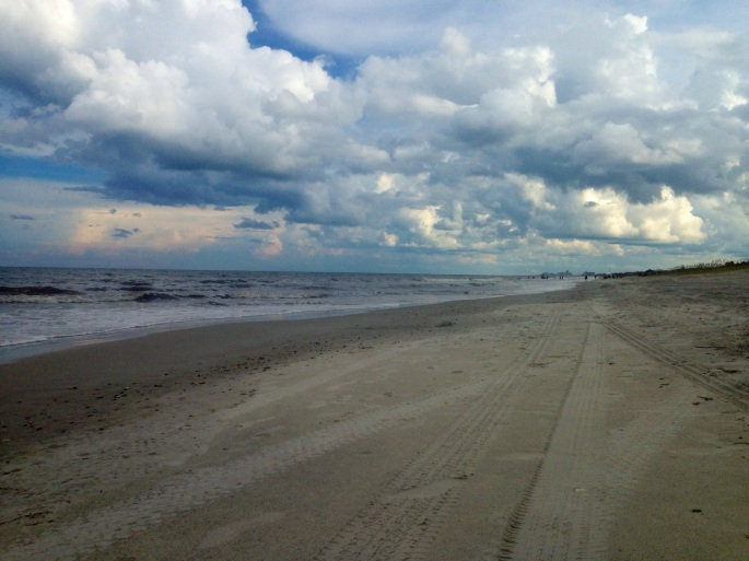 The beach is wide and nice at Hanna Park near Jacksonville, Florida.