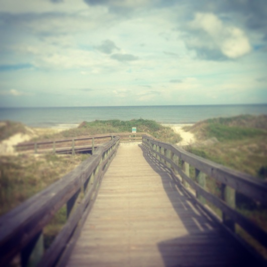 The boardwalks over the dunes at Kathryn Hanna Park near Jacksonville at Atlantic Beach.