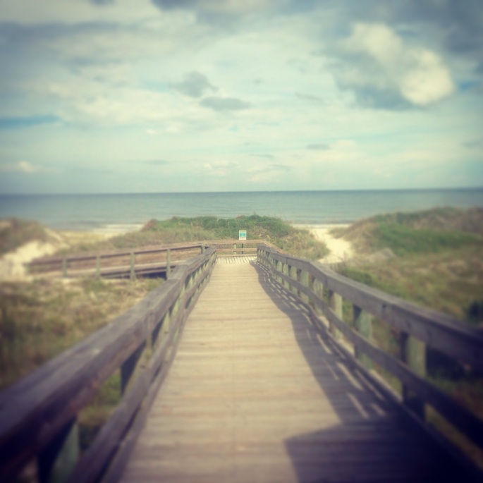 The boardwalks over the dunes at Kathryn Hanna Park near Jacksonville at Atlantic Beach.